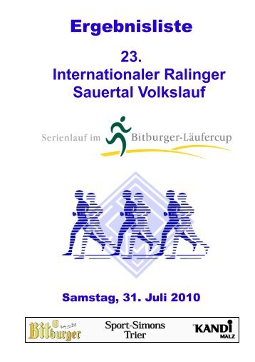 23. Internationaler Ralinger Sauertal Volkslauf