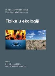 Fizika u ekologiji - Hrvatska znanstvena bibliografija - Institut Ruđer ...