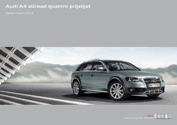 Prijslijst Audi A4 allroad quattro per 01-03-2011.pdf - Fleetwise