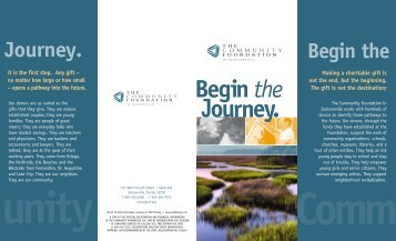 Begin the Journey. - The Community Foundation in Jacksonville