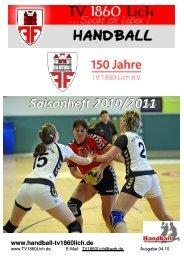 Saison-Heft 10-11-4 - TV 1860 Lich