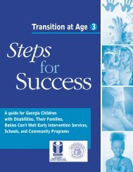 Transition At Age 3 Steps - Georgia Division of Public Health