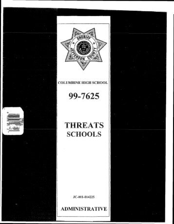 Threats – Schools - Evan Long
