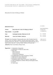 Referat fra bestyrelsesmøde 21.6.05 - Center for Boligforskning