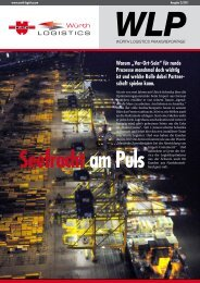 Seefracht am Puls - Würth Logistics