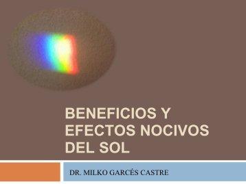 BENEFICIOS Y EFECTOS NOCIVOS DEL SOL