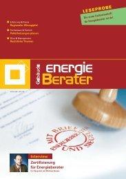 LESEPROBE - Bundesverband Gebäudeenergieberater, Ingenieure ...