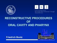 reconstructive procedures of oral cavity and pharynx - Bsbb