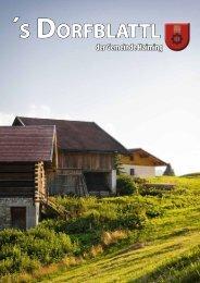 Herbst 2011 -´s Dorfblattl - Gemeinde Haiming - Land Tirol