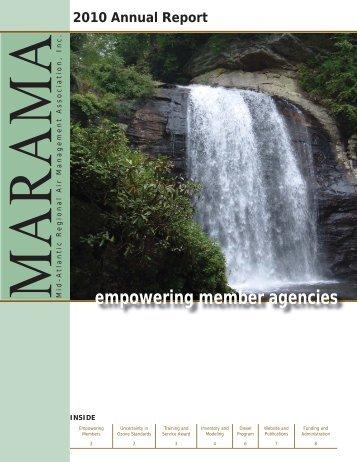 2010 MARAMA Annual Report DRAFT.indd