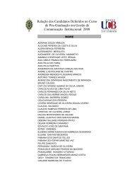 Relação dos Candidatos Deferidos no Curso de Pós-Graduação em ...