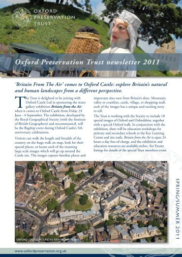 Spring 2011 Newsletter - Oxford Preservation Trust