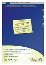 CONCOURS UNI-TERRE 2008 - Rhone Solidaires