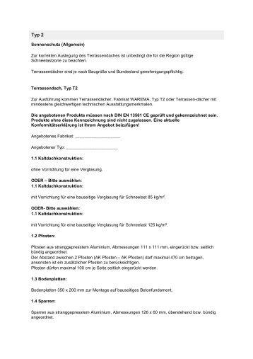 Typ T2 - Home » Finkeisen Sonnenschutz