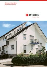 Produkprospekt Rollladen-Vorbau - Windor - Fensterwerke
