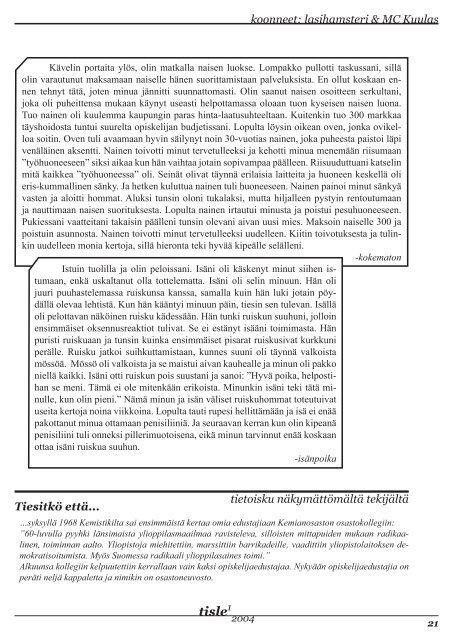 Tisle 1/2004 Eka kerta - Kemistikilta