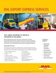 DHL EXPORT EXPRESS SERVICES