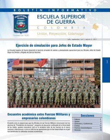 Ejercicio de simulación para Jefes de Estado Mayor - Escuela ...