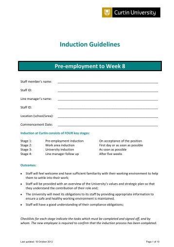 Staff Induction Program - Human Resources