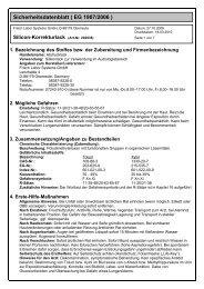 Sicherheitsdatenblatt ( EG 1907/2006 ) - Frisch Labor Systems Gmbh
