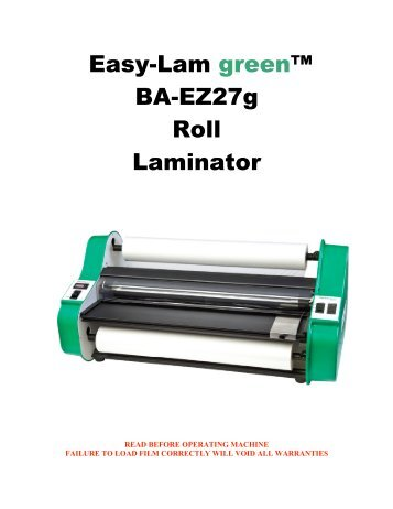laminating - Clary Business Machines