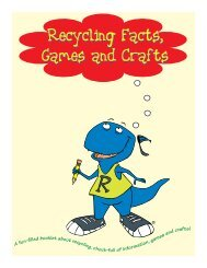 Recycling Facts, Games and Crafts Recycling Facts ... - Energy Quest