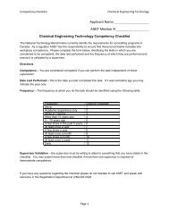 Checklist Chemical 2013 - ASET