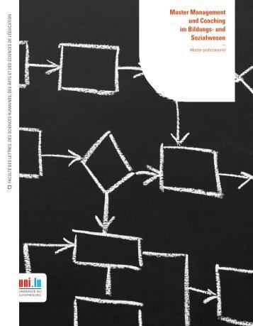 Master Management und Coaching im Bildungs- und Sozialwesen
