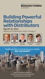 Building Powerful Relationships with Distributors - Hida