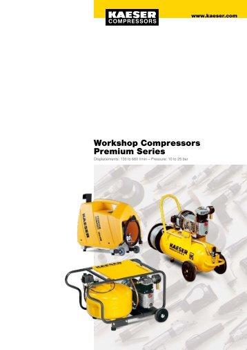 Workshop Compressors Premium Series - Kaeser Compressors