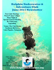 Dolphin Underwater & Adventure Club June 2011 Newsletter