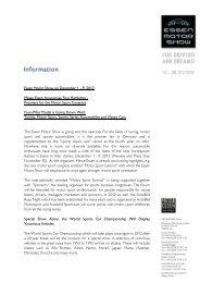 Essen Motor Show on December 1 - 9, 2012 Messe Essen ...