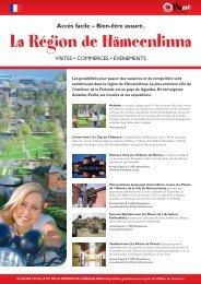 La Région de Hämeenlinna - Kehittämiskeskus Oy Häme