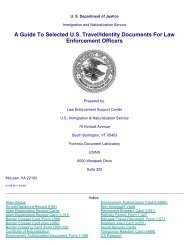 A Guide To Selected U.S. Travel/Identity Documents For Law ...