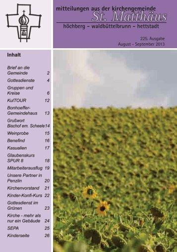 225. Ausgabe - August-September 2013 - Evangelisch-Lutherische ...
