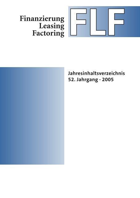 Unternehmen - Finanzierung Leasing Factoring