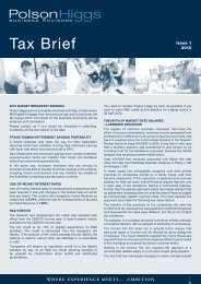 Tax Brief - Polson Higgs