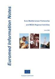 Euromed Information Notes Euro-Mediterranean Partnership - emwis