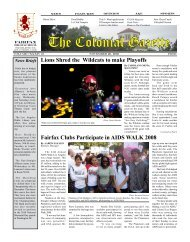 The Colonial Gazette - Fairfax Senior High School