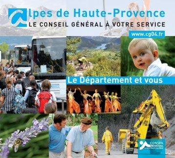 Le Département et vous - Alpes-de-Haute-Provence