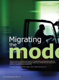 Migrating the Model - Oliver Wight Americas