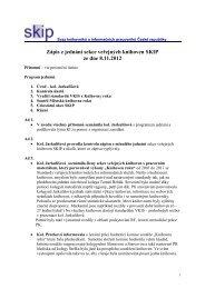 Zápis z jednání sekce veřejných knihoven SKIP ze dne 8.11.2012