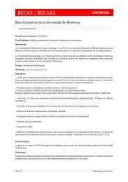 Beca Excelencia de la Universidad de Monterrey - Becas - Universia