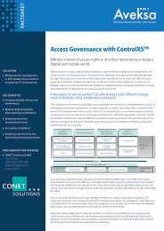 Access Governance with ControlXSTM - CONET Group
