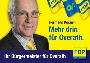 Mehr drin für Overath. - FDP Kreisverband Rheinisch-Bergischer Kreis