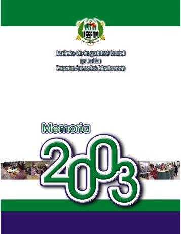 Memoria Anual 2003 - Issfam