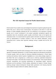Rio +20: Important issues for Pacific Island women ... - Gender Climate