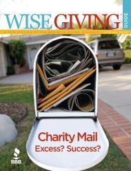 BBB Wise Giving Guide - Better Business Bureau