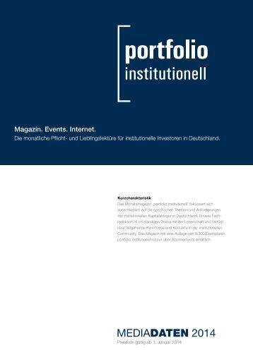 MediaDATEN 2014 - portfolio institutionell