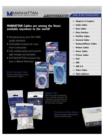 MANHATTAN Cables are among the finest available ... - IC Intracom